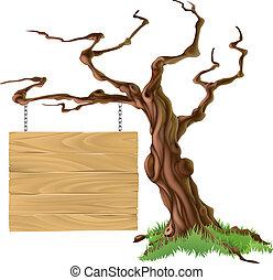 Unterzeichne Baumimitation