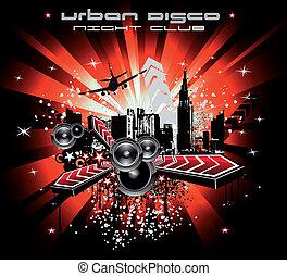 Urban abstrakte Discomusik Hintergrund