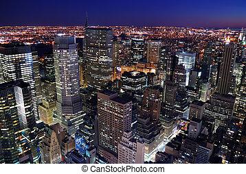 Urban City Skyline Luftansicht