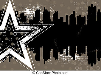 Urban Retro-Hintergrunddesign
