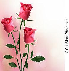 Urlaub mit roten Rosen