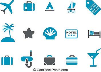 Urlaubs-Icon-Set