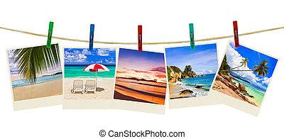 Urlaubsstrandfotografie auf Wäscheklammern