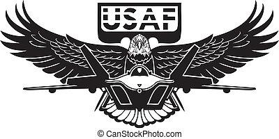 US Air Force - militärisches Design.
