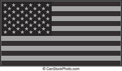 US-Flagg grau.