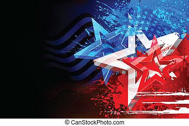 US-Flagge Hintergrund abbrechen