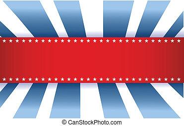 US-Flaggedesign, rot weiß und blau