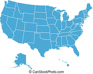 US-Vektorkarte