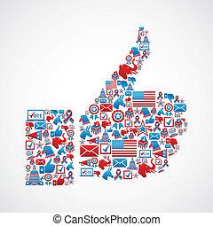 US-Wahlwahlen führen Hand in Hand