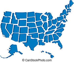 USA 3D-Karte