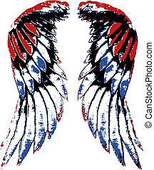 Usa-Adler-Flügelporträt