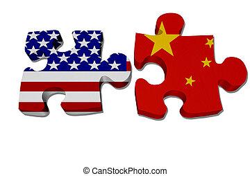 USA arbeiten mit Porzellan