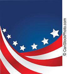 USA-Flagge im Stilvektor