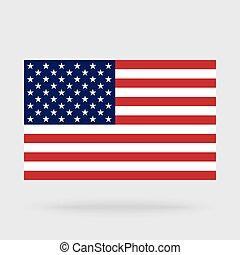 USA-Flagge isoliert im Hintergrund.