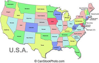U.S.A. Karte