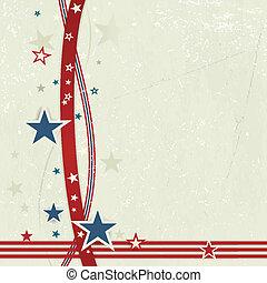 USA Patriotischer Hintergrund in Rot, Blau und Weiß.