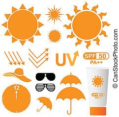 UV-Schutz-Vektor.