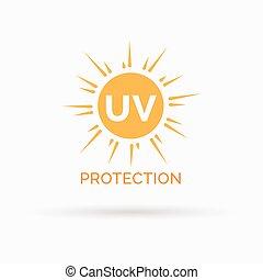 UV-Sonnenschutz Icon Design Vektorsymbol