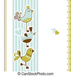 Vögel Babyparty