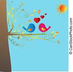 Vögel in Liebesvektoren