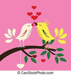 Vögel mit Liebe
