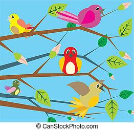 Vögel singen - Frühling
