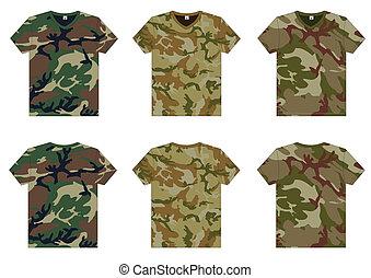 v-ausschnitt, militaer, männer, t-shirts