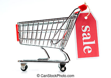 v1, shoppen, verkauf, karren