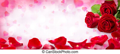 Valentine Einladung mit Herzen.