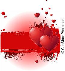 Valentine Grunge-Banner