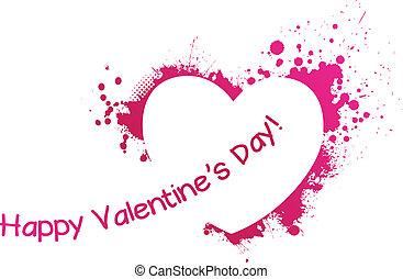Valentine Grunge rosa Herz.