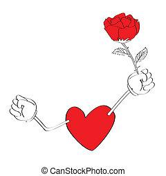 Valentine-Herz-Zeichentrickfilme
