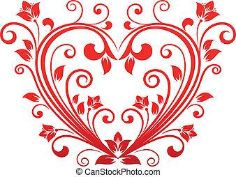 Valentines Blumenherz