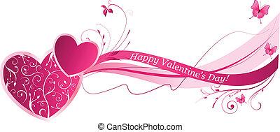 Valentines Blumenwellen-Hintergrund