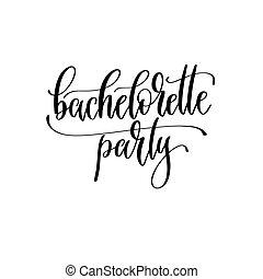 valentines, hand, design, beschriftung, party, -, inschrift, oder, hochzeitskarten, bachelorette, tag