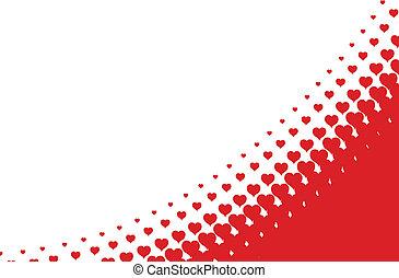Valentines Herz halbtone Hintergrund im Vektor