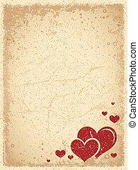 valentines, weinlese, hintergrund