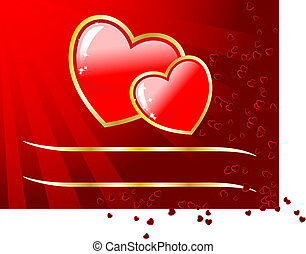 Valentins- oder Hochzeits-Vektorkarte mit Platz für deine SMS.