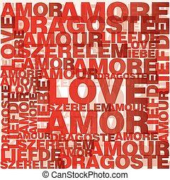 Valentinsherz aus Liebesworten