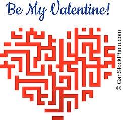 Valentinsherz mit Labyrinth.