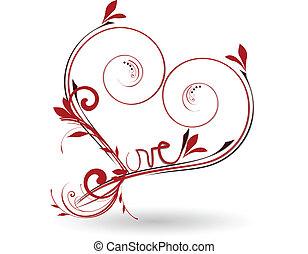 Valentinstag Blumen lieben das Herz.