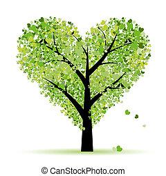 Valentinstag, Liebe, Blatt aus Herzen
