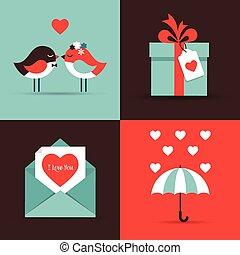 Valentinstag, liebe Grußkarten.
