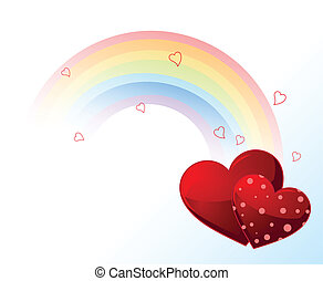 Valentinstag Regenbogen.