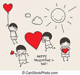 Valentinstags-Doodle