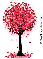 Valentinstagsbaum der Herzen