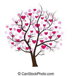 Valentinstagsbaum-Liebesvektorkonzept