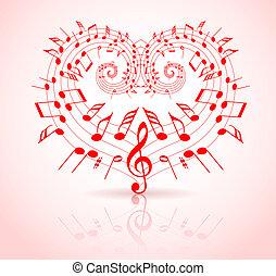 Valentinstagsmusik-Thema