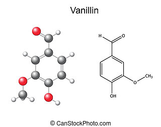 Vanillin Molekül.