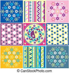 Variationen von nahtlosen Farbmustern